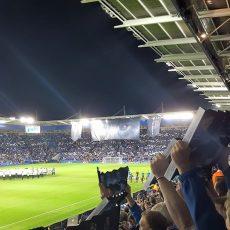 Leicester City zadebiutowało w Lidze Mistrzów 14 września 2016 roku w meczu z Club Brugge